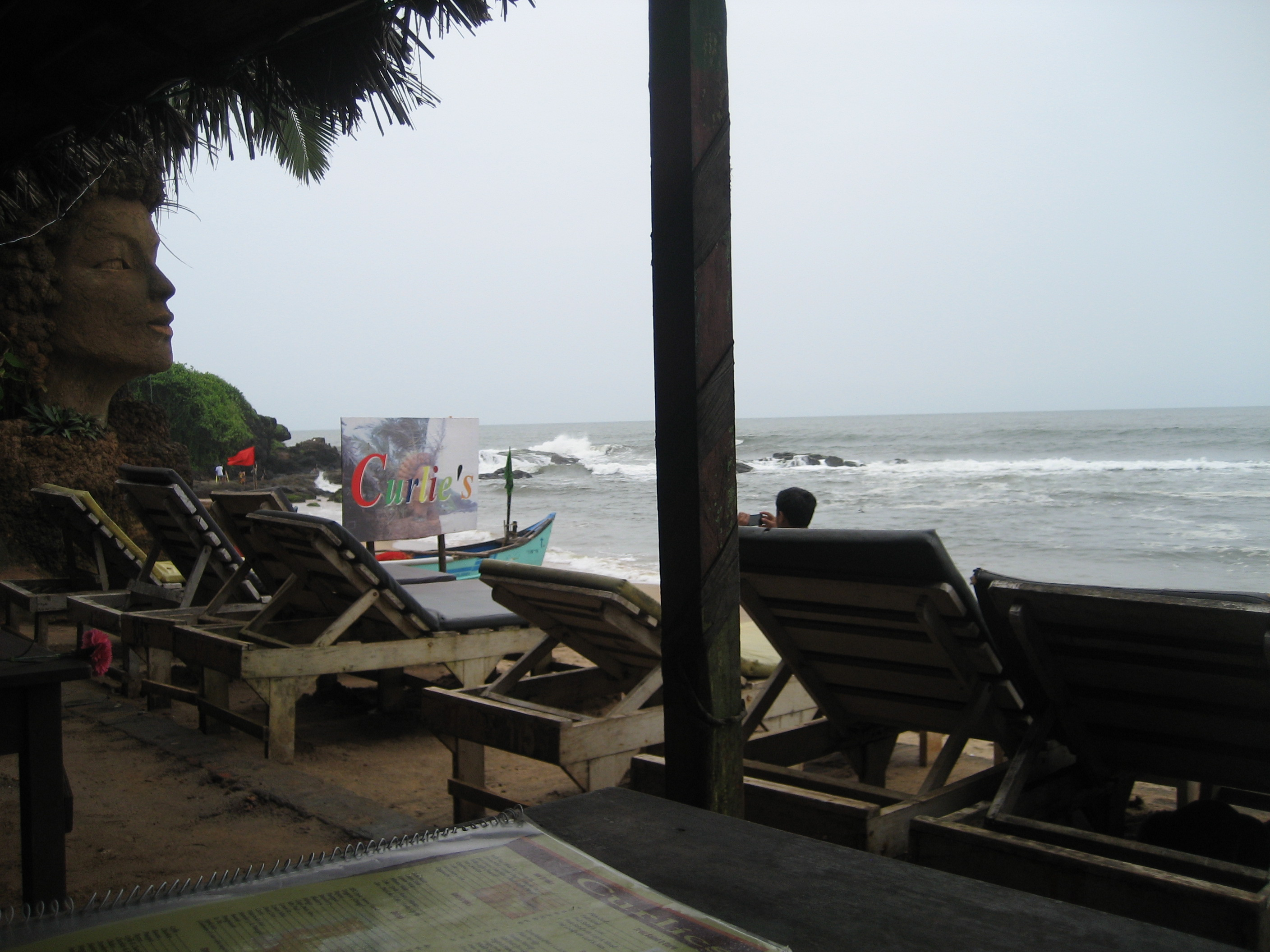Curlies next to Anjuna beach. Hot relaxing destination for many.