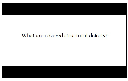 Covered structural defects