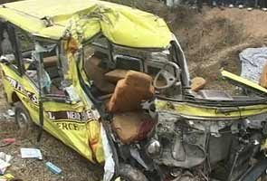 School bus accident. Courtesy: NDTV