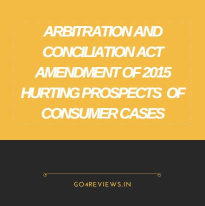 ARBITRATION AND CONCILIATION AMENDMENT ACT 2015