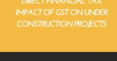 Financial Tax impact of GST on under construction projects