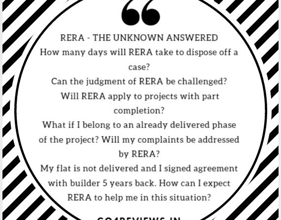 RERA FAQs – The unknown answered