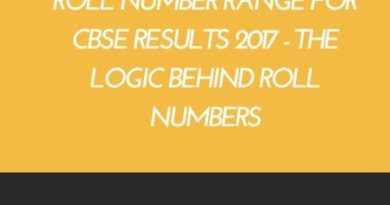 Roll number range for CBSE results 2017