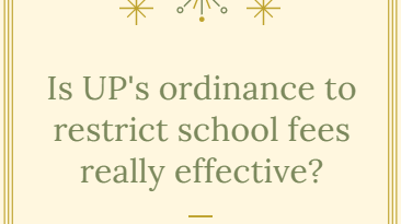 Is UP's ordinance to restrict school fees really effective?