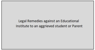 Legal remedies against educational institution