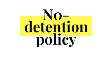No detention policy or no fail policy for schools
