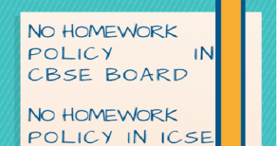 No homework policy CBSE ICSE