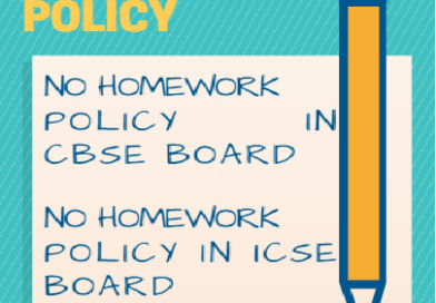 No homework policy for CBSE and ICSE board
