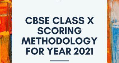 CBSE Class X scoring methodology for year 2021